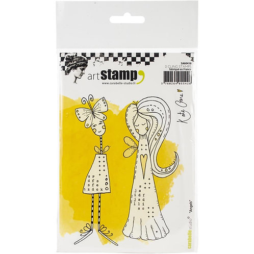 """Carabelle Studio Cling Stamp A6 """"Angels"""" by Kate Crane"""