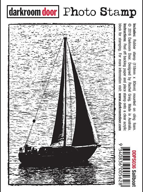 """Darkroom Door - """"Sailboat"""" Photo Rubber Stamp"""