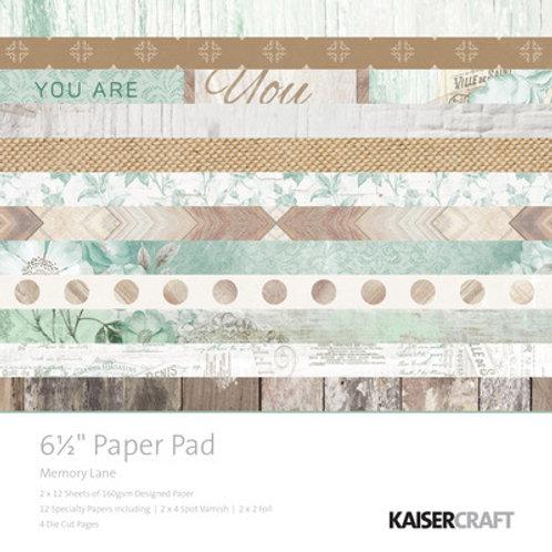 "Kaisercraft  6.5""x 6.5"" Paper Pad 24 pages ""Memory Lane"""