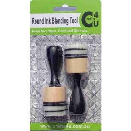 2 Round Foam Inking Tool  2 Pack