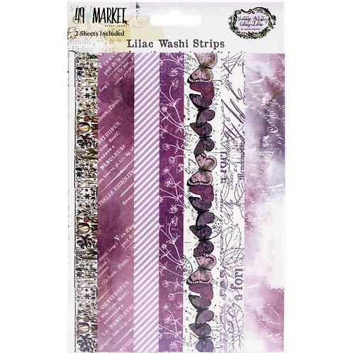 "49 Market Lilac Washi Strips Tape 2 5x7"" sheets"