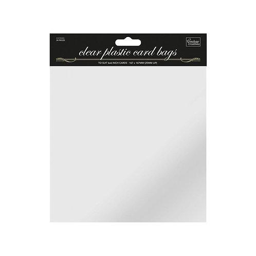 6 X 6 Clear Self Seal Cellophane Card Bag 50pk
