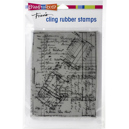 """Ledger Script""  Stampendous Cling Mount Rubber Stamps"
