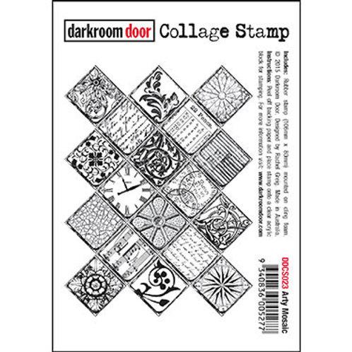 """Darkroom Door - """"Arty Mosaic"""" Collage Rubber Stamp"""