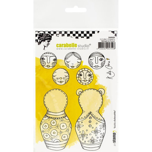 "Carabelle Studio Cling Stamp A6 ""Build a Baboushka"" by Kate Crane"