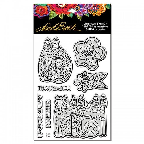 Cats Stampendous Cling Mount Rubber Stamps Feline Blooms