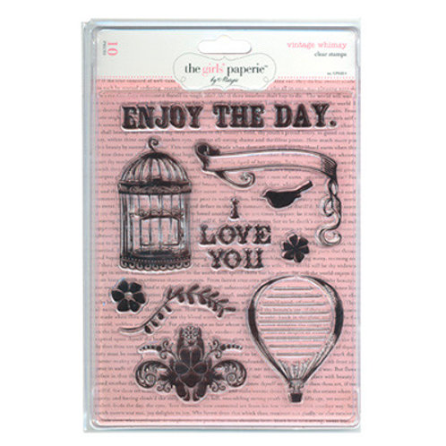 "The Girls Paperie ""Vintage Whimsy"" Clear Stamps 10 Stamps"