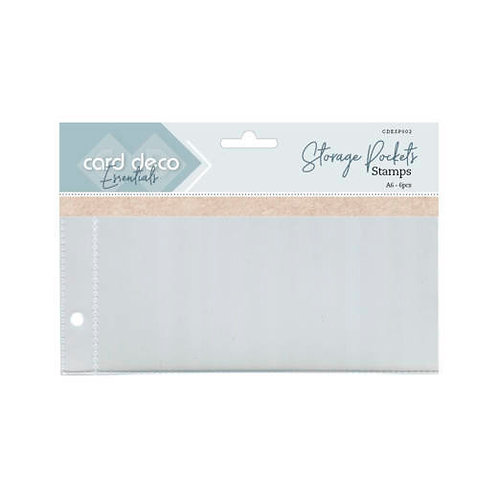A6 Refill Pockets for Stamps 6pcs