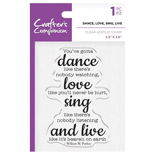 """Dance, Love, Sing, Live Clear Acrylic Stamps  2.3""""x 6.6"""""""