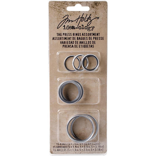 Tim Holtz Tag Press Rings Assorted 15pcs