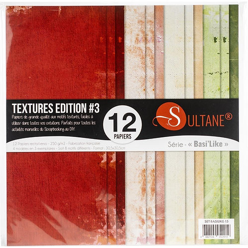 TEXTURES EDITION #1 12X12 Papers3