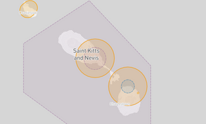 Saint Kitts and Nevis Drone Fly Map