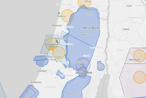 Palestine Drone fly map