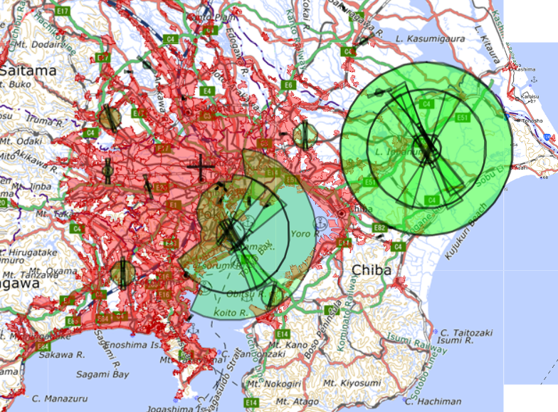tokyo drone fly map