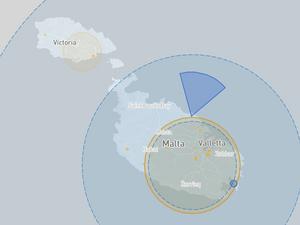 Malta drone fly map