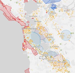 San Francisco city drone flight map