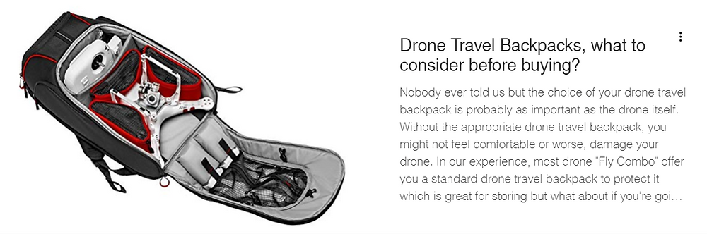Drone Travel Gear and backpacks