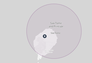 São Tomé and Príncipe Drone fly map