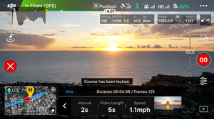 Course Lock Intelligent Flight Mode DJI