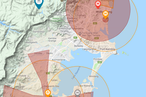 Drone Fly Map Wollongong