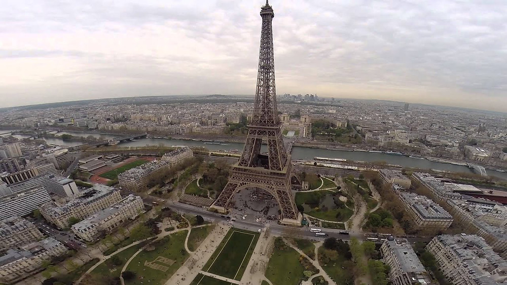 Aerial Photo of the Eiffel Tower