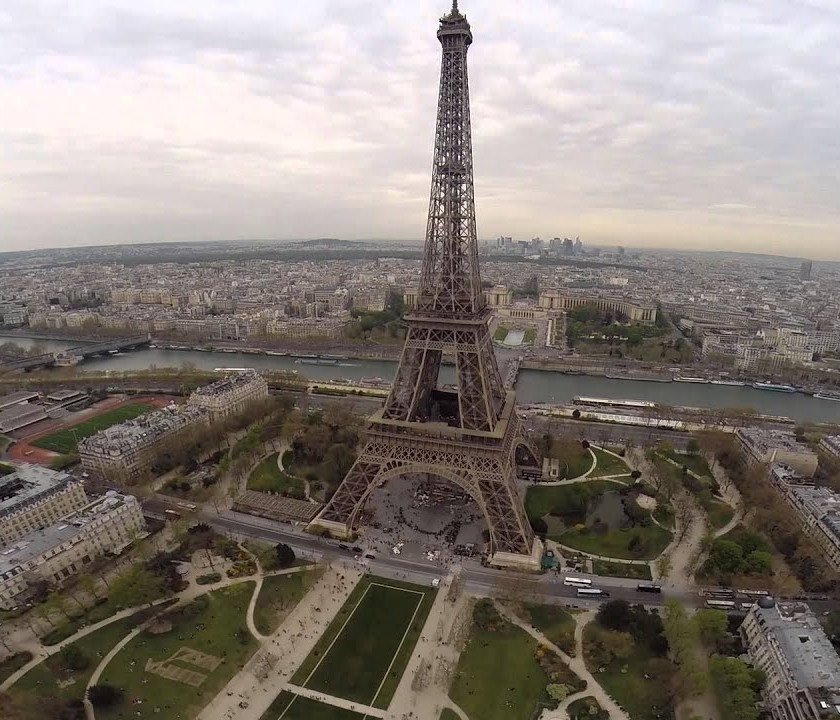 Aerial Photo of the Eiffel Tower, France