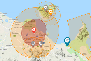 Drone Fly Map Cairns