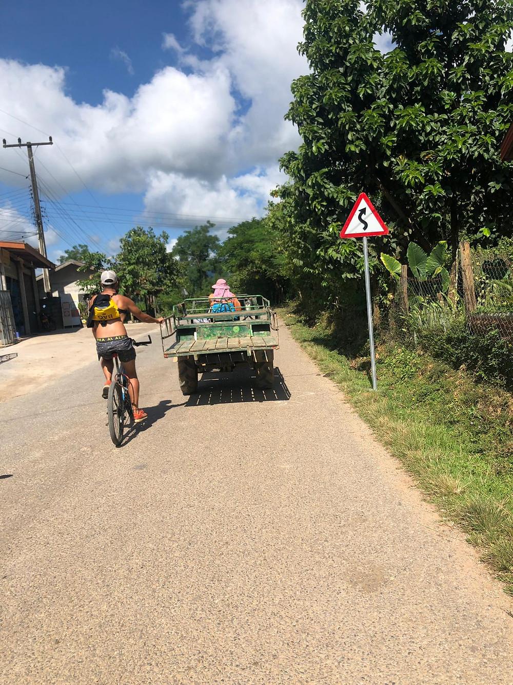 Cycling in Vang Vieng