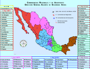 Mexico Airport & Heliport Map