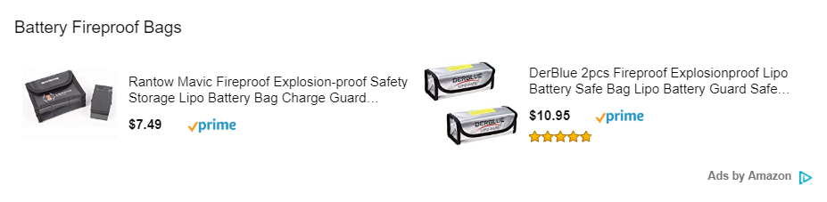Fireproof drone battery case