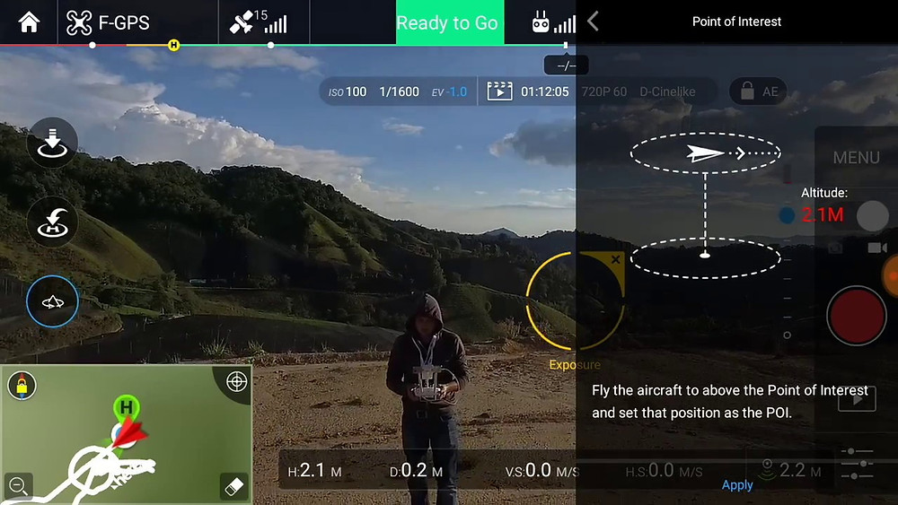 Point of Interest Intelligent Flight Mode DJI