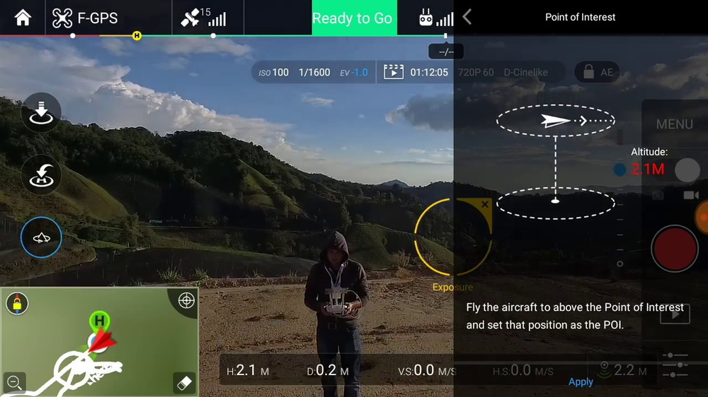 Point of Interest Intelligent Flight Mode DJI
