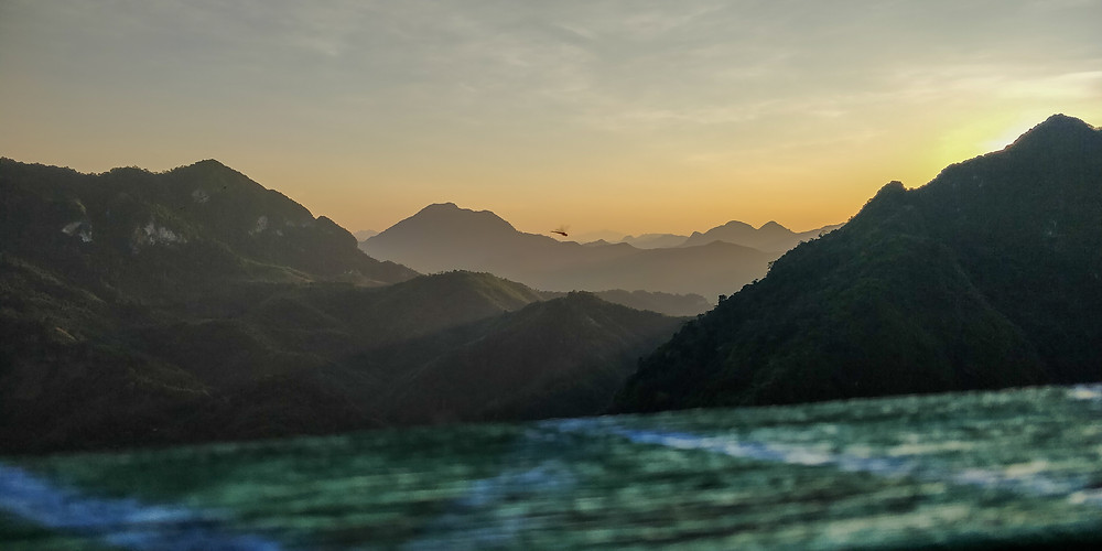 Sleeping Woman Viewpoint at sunset