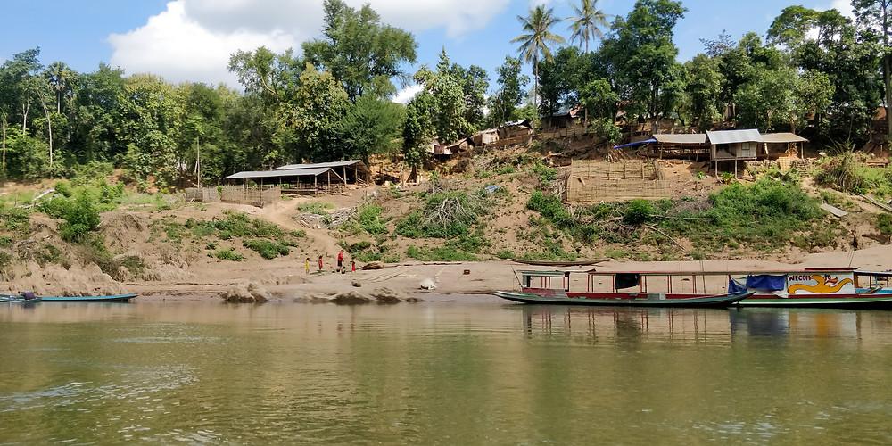 Remote Laos village between Muang Khua and Muang Ngoy