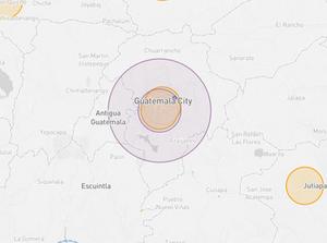 Guatemala drone fly map