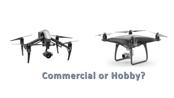 The 3 things to consider between recreational and commercial drone use.