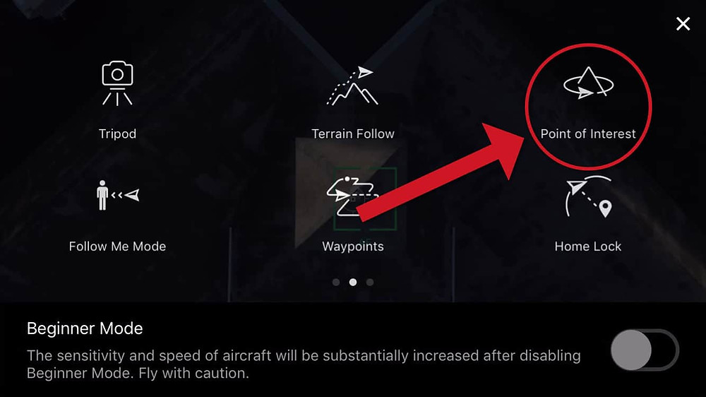 DJI Point of Interest Controller Settings