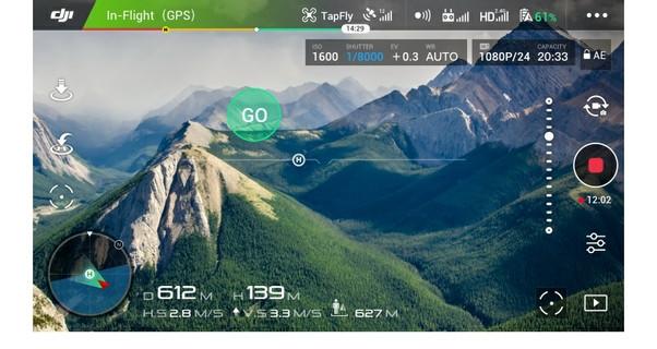 Tap Fly Intelligent Flight Mode DJI