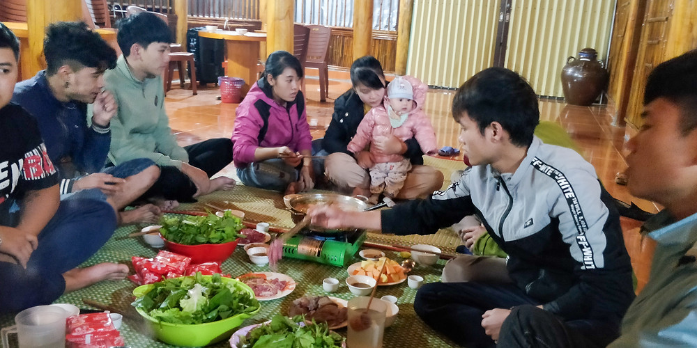 Book Lung Cu Homestay Family Meal here