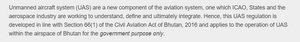 Official Bhutan drone ban text