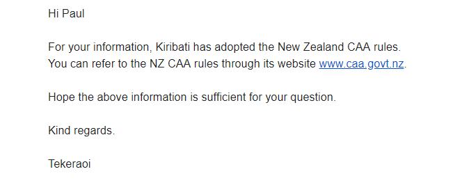 Drone Laws Kiribati
