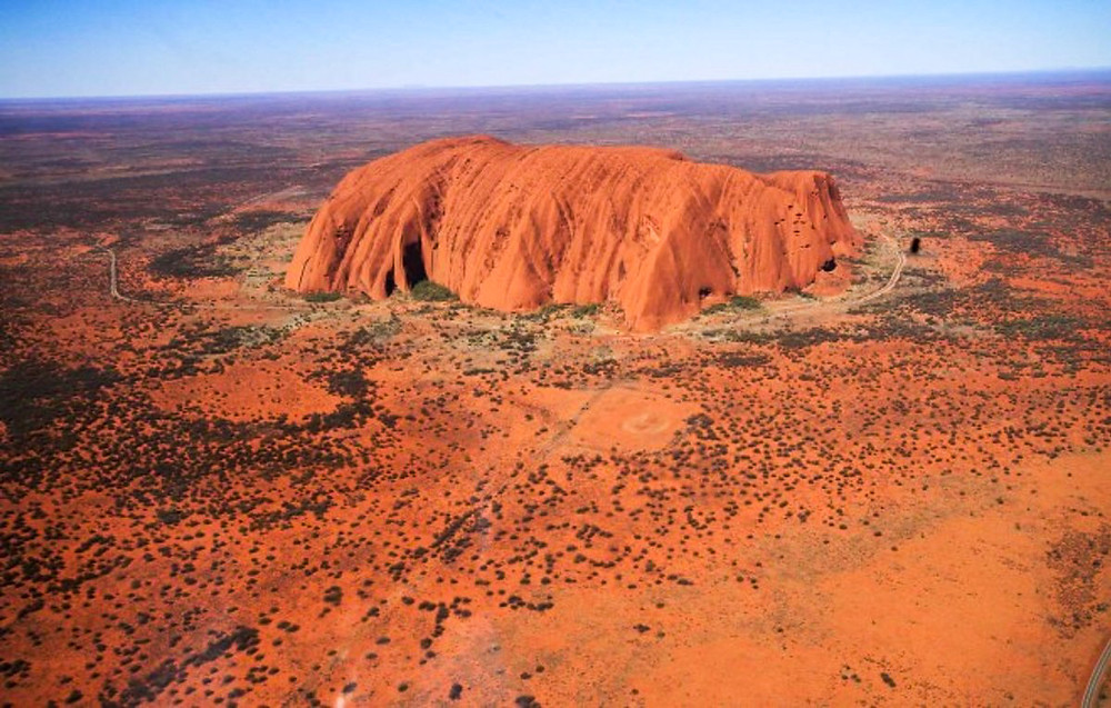 Aerial Photo of Ayers Rock (taken from a helicopter)