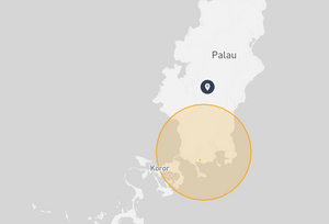 Palau Drone fly map