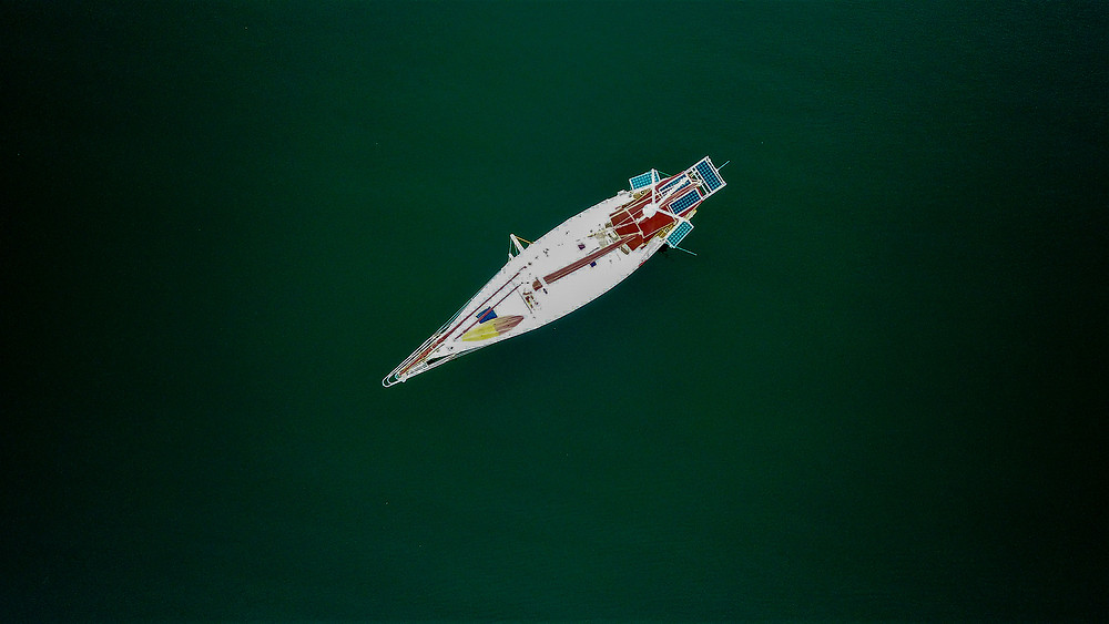 Sailboat Photo taken from a drone