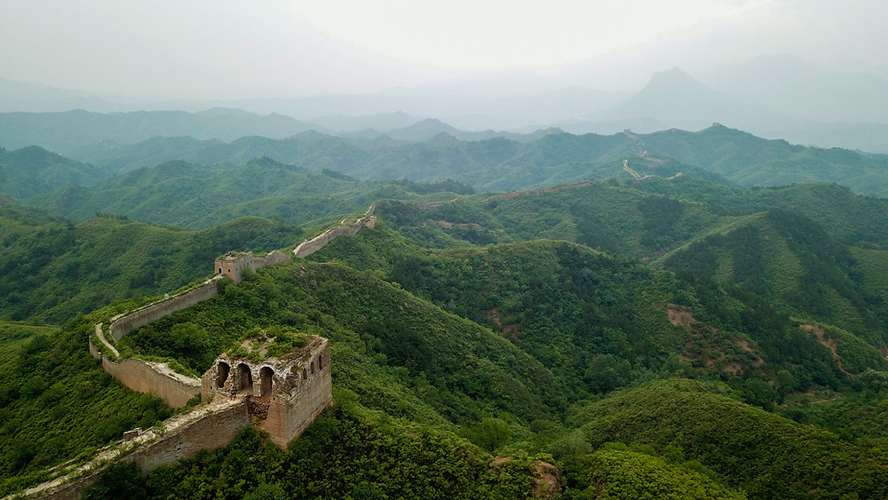 Aerial Photo of the Great Wall of China