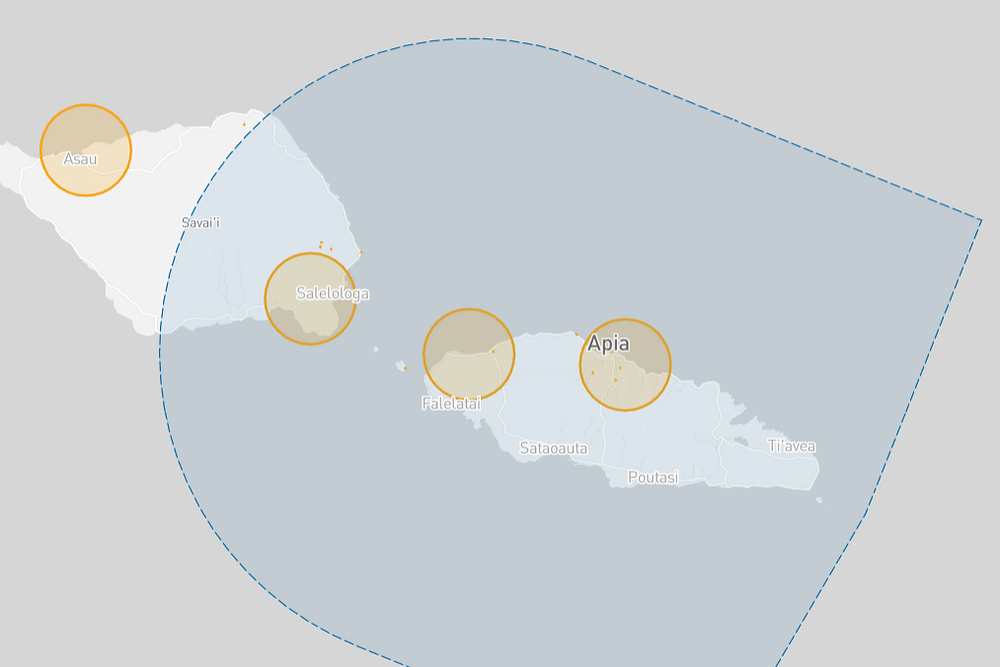 Samoa drone fly map