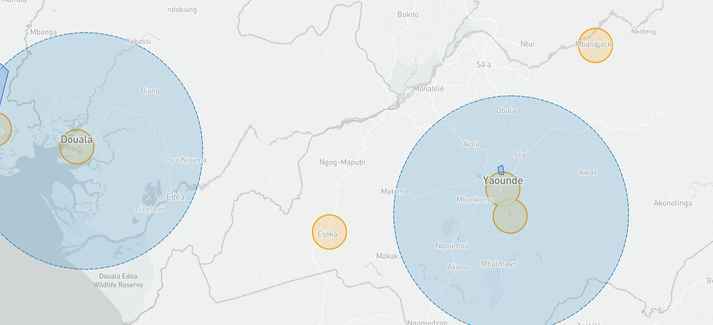 Cameroon drone fly map
