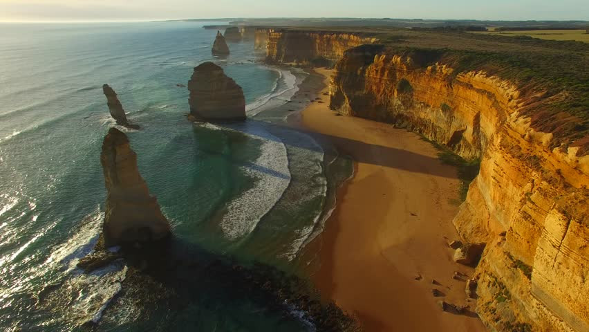 Aerial Photo of the 12 Apostles (taken from a helicopter)