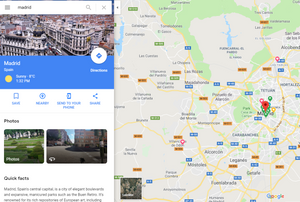 Google Maps Madrid - fly your drone locations