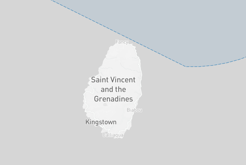 Saint Vincent and the Grenadines Drone Fly Map
